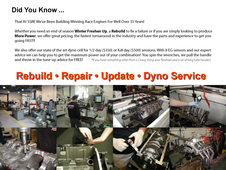 Shafiroff Racing Drag Race Engine Rebuild Services