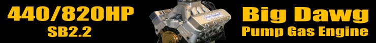 440/820HP Big Dawg SB2.2 Pump Gas Engine